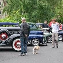 Admiring the cars at the Bainbridge Island Grand Old 4th of July